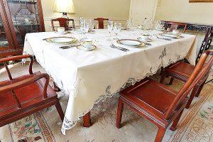 Canterbury Battenburg Lace Tablecloth
