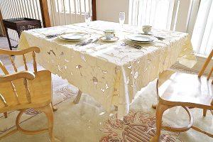 """70"""" Square tablecloth, pearl color square tablecloth"""