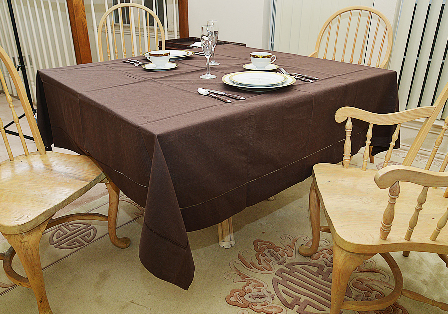French Chooolate colored Square tablecloth