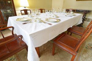 """68""""x120"""" dining room tablecloth"""